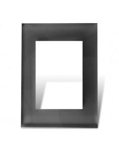 Cambre   4965  4 Mod Tapa Y Distan Vidrio  Negra    Bauhaus Minimal