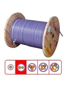 Argenplas S26f____  Mts. Cable  2 X  6.00     Subte Bobina 40cm (celeste-marron)  Iram 2178