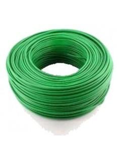 Argenplas U25vea__   Mts. Cable 1 X  25.00 Rollo Unip  Verde Y Amarillo Iram Nm247-3