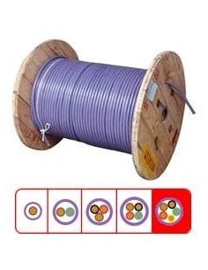 Argenplas Cs5150__  Mts. Cable  5 X    1.50   Comando Subte Bobina 40cm (celeste-marron-rojo-negro-verde)