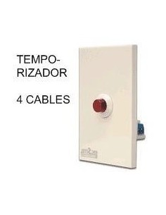 Rbc 0915___ Temporizador 5 X 10 Regulab Pasillo 4 Cables 2200w (apto Led) Bornera   (pulsador Automatico) Elibet
