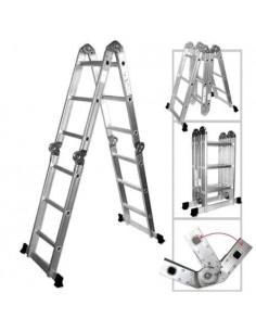 Ferpak Aai-9616 Escalera De Aluminio 1,20/4,60mts Articulada Plegable 16 Escalones