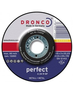 - Dronco 1112015    Disco De Corte 115 X 3.0 X 22 Met.  Inox Flex Desbaste
