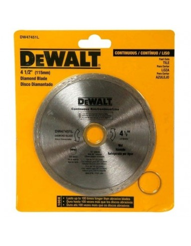 Dewalt Dw47451l   Disco Continuo   Diamantado 4 1/2 Plano Mamposteria (stanley Sta47451l, Rhein)