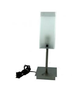 Serglass V-411     Velador Vidrio Cuadrado   Platil       1 X 60w