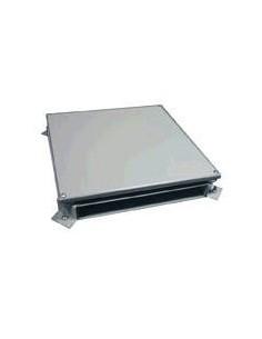 Electrocanal Pisoducto Caja De Empalme  4 Via 30mm X 344mm X 350mm X 280mm Sin Tapa Acero Funcional