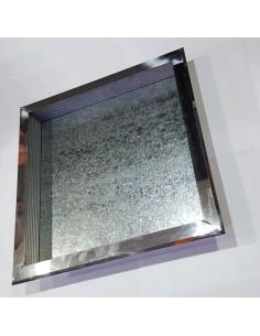 Electrocanal Tapa Cuadrada 40mm 4 Vias P/ Caja De Empalme Plato De Pisoducto