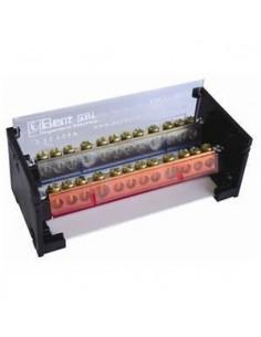Elent 212125ap   Bornera Profesional 2 X 12 X 125a C/tierra (130mm X 59mm X 49mm)