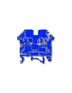 Zoloda Bpn-06-az      Bornera Unipolar P/riel Din  6.0mm  Azul (compon. Flex.rig.)