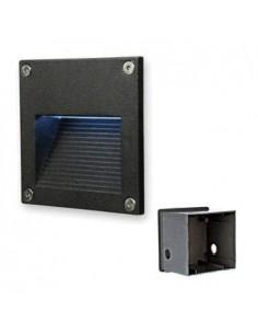 180g 32025 Lumia Emb Pared Aluminio Led 2w/830  Luz Calida Negro