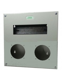 Genrod 09988        Caja P/capsulado           2 X 32a + 9 Din  (gabinete Metalico Ind. P/capsulados Cbox Ext )