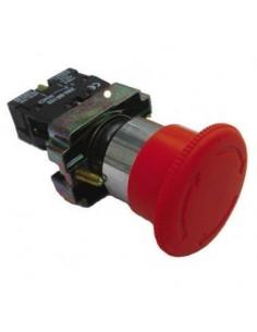 Baw B5bs542          Pulsador  Hongo 40mm     Rojo C/giro Golpe De Puño  (parada De Emergencia) Para Bloque De Contacto Na (