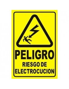 K23 Cartel Autoadhesivo 15 X 10 peligro Riesgo De Electrocucion