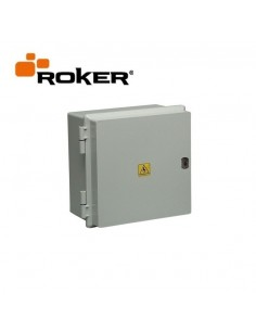 Roker Prd550   Gabinete Estanco   245 X 230 X 145   8 Bocas Din Ip65 C/bisag S/cerr Tapa Blanco (caja Termica Estanca)