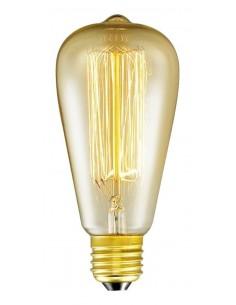 Interelec 403152 E27 St64 Vintage Inc 25w/2200k Gold 40lm Antique Incandescente (france) (6,4x14cm)