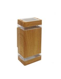 180g 38045/ma/bi Wallnut Ii Bidireccional Madera  X2 Gu10  (fundicion De Aluminio)