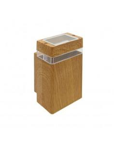 180g 38045/ma/uni Wallnut I Madera Unidireccional X 1 Gu10 (fundicion De Aluminio)