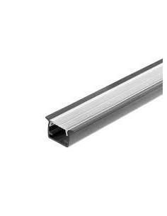 Macroled Pvc-f-2m-gr Perfil Pvc X2 Mts Embutir Para Tiras Led 14 X 7mm Blanco