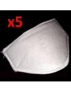 Gs 520-r Repuesto X5 Para Mascara Termoformado Repuestos Intercambiables (barbijo)