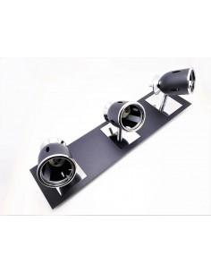 Sl 2603nt   Niza Aplique 3 Luces Negro Texturado