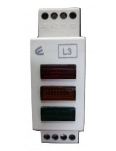 Elibet L3      Indicador Led Din Trifasico 230vca Rojo + Ambar + Verde