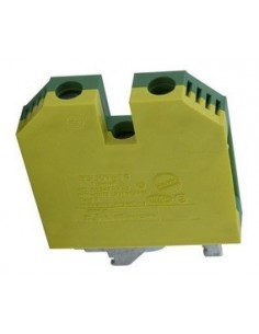 Zoloda Bslkn-10       Bornera Unipolar P/riel Din 10.0mm  Tierra Verde (compon. Flex.rig.)