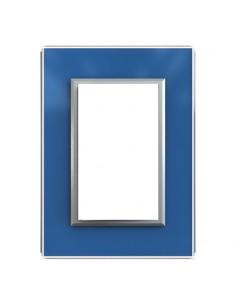 Jeluz 698/32-7  Tapa Std Cristal Azul + Ribete Plata  (verona)