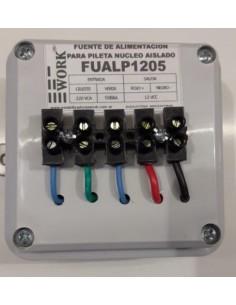 Corilux ______ Fuente Piscina  220 -  12v  X  5a 60w Nucleo Aislado (transformador Bobinado + Rectificacion) Work Fualp1205r