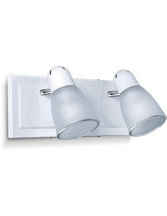 Sl 3902cb   Lar Aplique 2 Luces Base Cuadrada Blanco