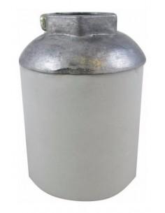 Sica 163800 Portalamparas E40 Casquillo Aluminio   5/8 Nº 1321 Edison Ceramico Porcelana (frihel Z001s)