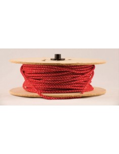 Mts. Cable Textil ___t  2  X   0.75  Rojo Y Blanco