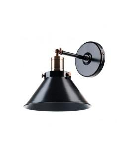 Vintagelamps A191 Aplique Pared 1 X E24 Bronce Y Negro 20cm