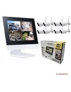 Jortan Nvr  Nvr  8 Canales Kit 8 Camaras Inalambrico Mouse Sistema De Seguridad (no Dvr)