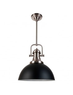 Vintagelamps Classic 400 Colgante Negro Y Platil 1 X E27 Pantalla 38x93 Cm