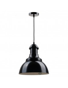 Vintagelamps Co 402_ Colgante Negro 1 X E27 Pantalla 38x93 Cm