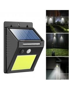 180g 77030 Teba Aplique 4w/840 8hs Energia Solar / Sensor Movimiento Y Fotocontrol.