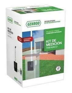 Genrod 101249_____ Edesur/edenor Kit Pilar Trifasico  Inferior  - (caja Ip + Caja Medidor + Flexible 1/2 + Pipeta Bak)