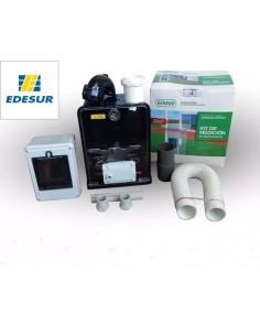 Genrod 101229___  Edesur Kit Pilar Monofasica Inferior - (caja Ip + Caja Medidor + Flexible 1/2 + Pipeta Bak)