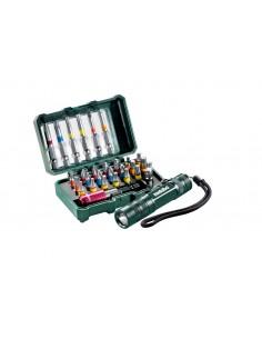 Metabo 626721000 Kit Caja De Puntas + Linterna 29 Piezas