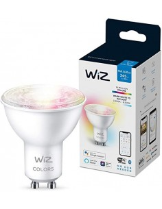 Wiz 8719514550896 Smart Rgb Gu-10  4.9w 450 Lms Wifi (color Change+ Dimmeable)  30.000hrs App Smart Life Lampara Dicroica