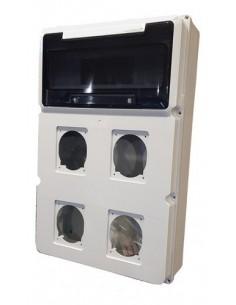 Genrod 161224g    Caja Pvc P/capsulado Ip65           4 X 32a + 12 Din 288x445x104 (gabinete  Cbox Ext )