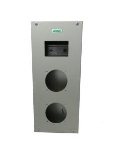 Genrod 09983        Caja P/capsulado 2 X 16a           + 4 Din  (gabinete Metalico Ind. P/capsulados Cbox Ext)